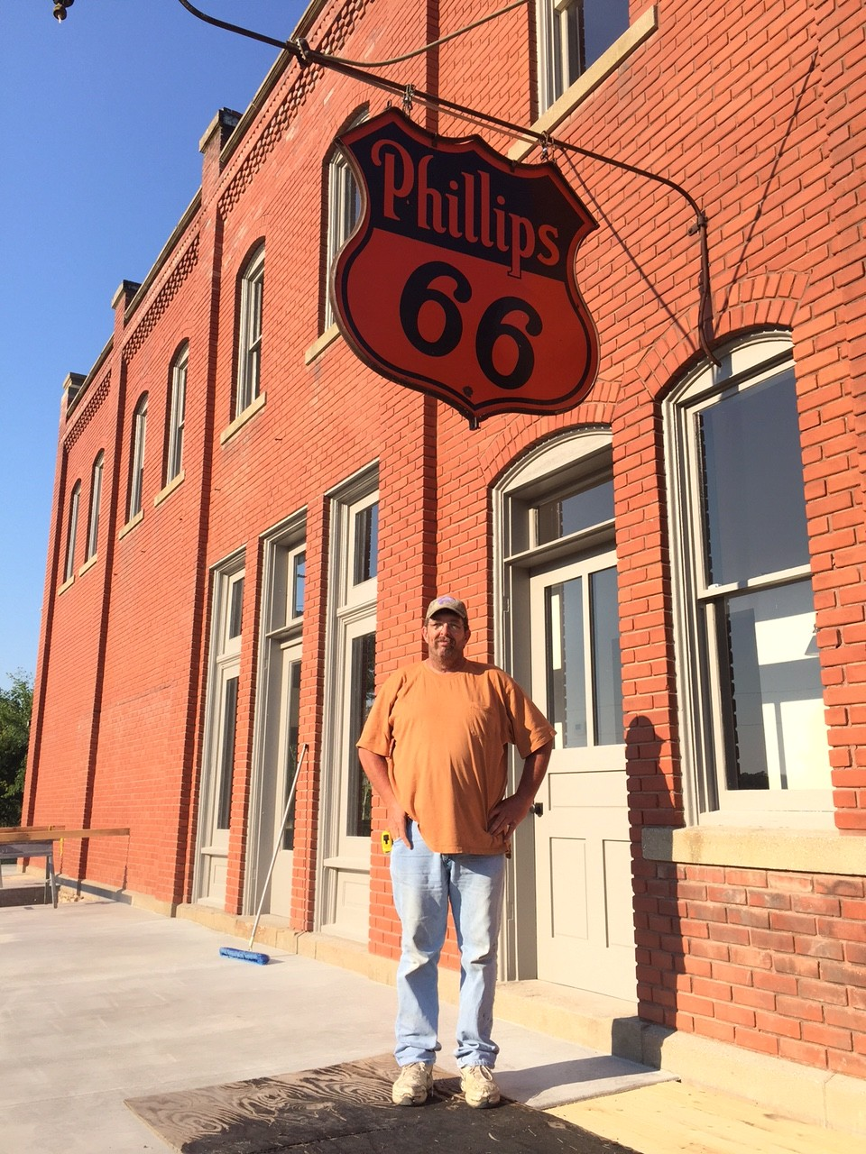 vintage Phillips 66 sign on Volland Store