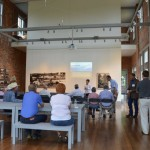 speaker at meeting of Nature Conservancy at Volland Store