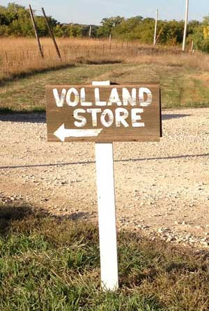 sign to The Volland Store