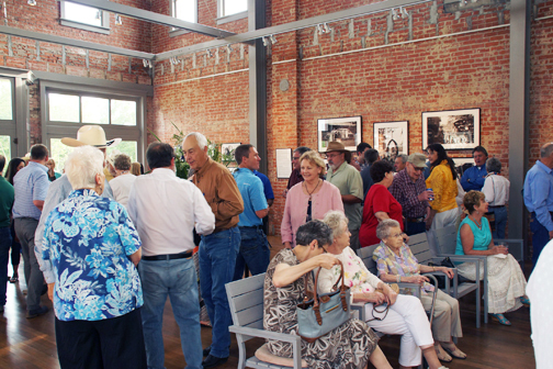 community members at the grand opening of the volland store