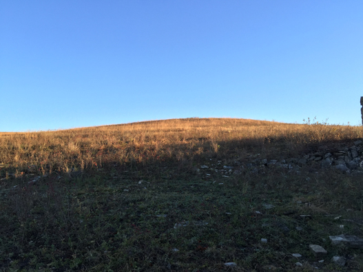 early-sun-on-crown-of-a- flint-hill